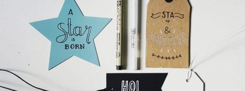 labels papier handlettering