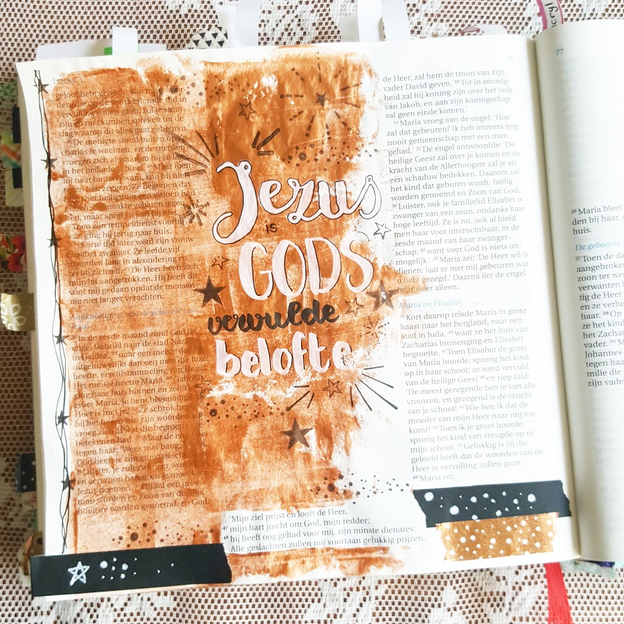 biblejournaling lucas koper acrylverf