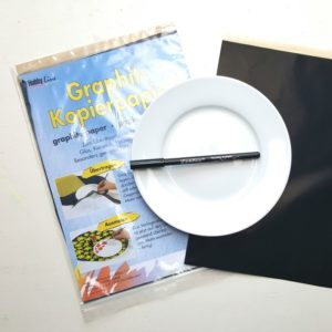 grafietpapier porseleinstift bordje