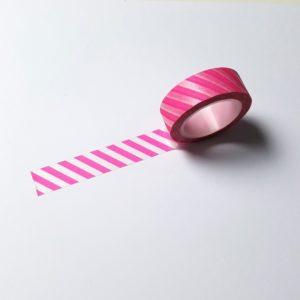 washi tape roze gestreept