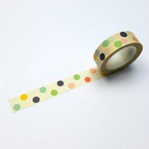 washi tape gekleurde stip