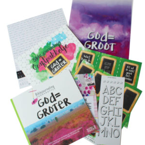 Craft pakketje biblejournaling god is groter