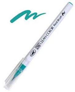 zig clean color real brush turquoise green
