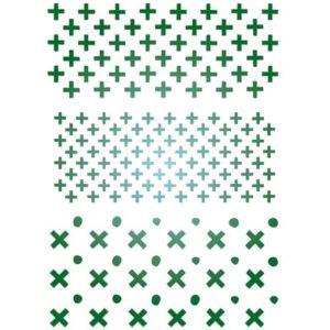 Stencil kruisjes