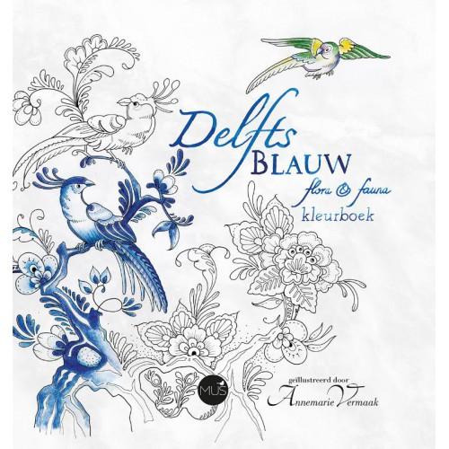 Delfts Blauw kleurboek Annemarie Vermaak