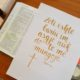 handlettering psalm 23 albanees