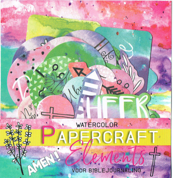 Watercolor papercraft elements biblejournaling