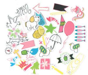 voorbeelden papercraft elements kids
