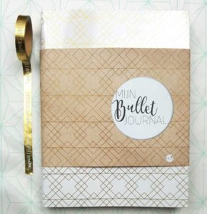 bullet journal goud wit mus